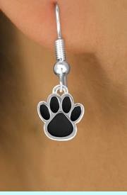 <bR>                 EXCLUSIVELY OURS!!<Br>          AN ALLAN ROBIN DESIGN!!<BR>CLICK HERE TO SEE 120+ EXCITING<BR>   CHANGES THAT YOU CAN MAKE!<BR>              LEAD & NICKEL FREE!!<BR>  W668SE - SMALL BLACK PAW CHARM &<BR>    EARRING FROM $4.50 TO $8.35