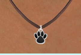 <bR>                 EXCLUSIVELY OURS!!<Br>           AN ALLAN ROBIN DESIGN!!<BR>  CLICK HERE TO SEE 120+ EXCITING<BR>     CHANGES THAT YOU CAN MAKE!<BR>                LEAD & NICKEL FREE!!<BR>    W668SN - SMALL BLACK PAW CHARM &<BR>     NECKLACE FROM $4.50 TO $8.35