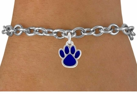 <bR>               EXCLUSIVELY OURS!!<Br>         AN ALLAN ROBIN DESIGN!!<BR>CLICK HERE TO SEE 120+ EXCITING<BR>   CHANGES THAT YOU CAN MAKE!<BR>              LEAD & NICKEL FREE!!<BR>   W669SB - SMALL BLUE PAW CHARM &<Br>   BRACELET FROM $4.50 TO $8.35