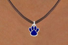 <bR>                 EXCLUSIVELY OURS!!<Br>           AN ALLAN ROBIN DESIGN!!<BR>  CLICK HERE TO SEE 120+ EXCITING<BR>     CHANGES THAT YOU CAN MAKE!<BR>                LEAD & NICKEL FREE!!<BR>      W669SN - SMALL BLUE PAW CHARM &<BR>     NECKLACE FROM $4.50 TO $8.35