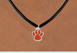 <bR>                 EXCLUSIVELY OURS!!<Br>           AN ALLAN ROBIN DESIGN!!<BR>  CLICK HERE TO SEE 120+ EXCITING<BR>     CHANGES THAT YOU CAN MAKE!<BR>                LEAD & NICKEL FREE!!<BR>  W670SN - SMALL ORANGE PAW CHARM &<BR>     NECKLACE FROM $4.50 TO $8.35