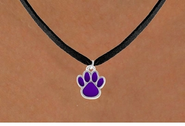 <bR>                 EXCLUSIVELY OURS!!<Br>           AN ALLAN ROBIN DESIGN!!<BR>  CLICK HERE TO SEE 120+ EXCITING<BR>     CHANGES THAT YOU CAN MAKE!<BR>                LEAD & NICKEL FREE!!<BR>   W672SN - SMALL PURPLE PAW CHARM &<BR>     NECKLACE FROM $4.50 TO $8.35