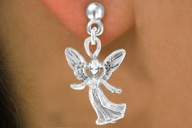 <bR>                 EXCLUSIVELY OURS!!<Br>          AN ALLAN ROBIN DESIGN!!<BR>CLICK HERE TO SEE 120+ EXCITING<BR>   CHANGES THAT YOU CAN MAKE!<BR>              LEAD & NICKEL FREE!!<BR>W675SE - HAPPY ANGEL CHARM &<BR>    EARRING FROM $4.50 TO $8.35