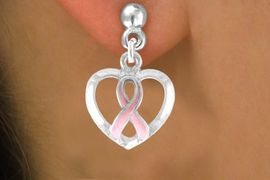 <bR>                 EXCLUSIVELY OURS!!<Br>          AN ALLAN ROBIN DESIGN!!<BR>CLICK HERE TO SEE 120+ EXCITING<BR>   CHANGES THAT YOU CAN MAKE!<BR>              LEAD & NICKEL FREE!!<BR>       W676SE - PINK AWARENESS<Br>      RIBBON ON HEART EARRINGS<Br>              FROM $4.50 TO $8.35