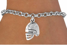 <bR>               EXCLUSIVELY OURS!!<Br>         AN ALLAN ROBIN DESIGN!!<BR>CLICK HERE TO SEE 120+ EXCITING<BR>   CHANGES THAT YOU CAN MAKE!<BR>              LEAD & NICKEL FREE!!<BR>   W677SB - FOOTBALL HELMET &<Br>   BRACELET FROM $4.50 TO $8.35