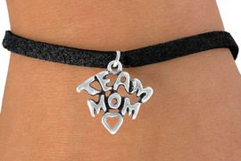 """<bR>               EXCLUSIVELY OURS!!<Br>         AN ALLAN ROBIN DESIGN!!<BR>CLICK HERE TO SEE 120+ EXCITING<BR>   CHANGES THAT YOU CAN MAKE!<BR>              LEAD & NICKEL FREE!!<BR>  W682SB - """"TEAM MOM"""" CHARM<Br>   BRACELET FROM $4.50 TO $8.35"""