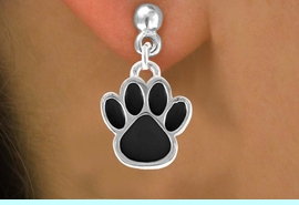 <bR>                EXCLUSIVELY OURS!!<Br>         AN ALLAN ROBIN DESIGN!!<BR>CLICK HERE TO SEE 120+ EXCITING<BR>   CHANGES THAT YOU CAN MAKE!<BR>              LEAD & NICKEL FREE!!<BR>    W685SE - LARGE BLACK PAW &<BR>   EARRINGS FROM $4.50 TO $8.35