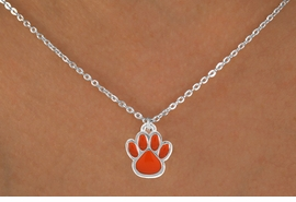<bR>                 EXCLUSIVELY OURS!!<Br>           AN ALLAN ROBIN DESIGN!!<BR>  CLICK HERE TO SEE 120+ EXCITING<BR>     CHANGES THAT YOU CAN MAKE!<BR>                LEAD & NICKEL FREE!!<BR>    W686SN - MEDIUM ORANGE PAW &<BR>     NECKLACE FROM $4.50 TO $8.35