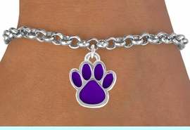<bR>               EXCLUSIVELY OURS!!<Br>         AN ALLAN ROBIN DESIGN!!<BR>CLICK HERE TO SEE 120+ EXCITING<BR>   CHANGES THAT YOU CAN MAKE!<BR>              LEAD & NICKEL FREE!!<BR>  W687SB - MEDIUM PURPLE PAW &<Br>   BRACELET FROM $4.50 TO $8.35