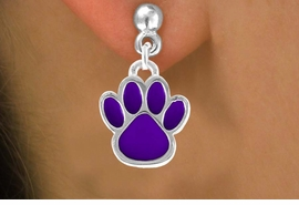 <bR>                EXCLUSIVELY OURS!!<Br>         AN ALLAN ROBIN DESIGN!!<BR>CLICK HERE TO SEE 120+ EXCITING<BR>   CHANGES THAT YOU CAN MAKE!<BR>              LEAD & NICKEL FREE!!<BR>   W687SE - MEDIUM PURPLE PAW &<BR>   EARRINGS FROM $4.50 TO $8.35