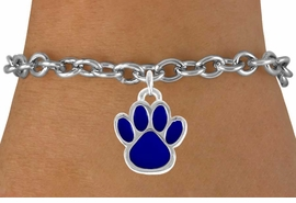 <bR>               EXCLUSIVELY OURS!!<Br>         AN ALLAN ROBIN DESIGN!!<BR>CLICK HERE TO SEE 120+ EXCITING<BR>   CHANGES THAT YOU CAN MAKE!<BR>              LEAD & NICKEL FREE!!<BR>    W688SB - LARGE BLUE PAW &<Br>   BRACELET FROM $4.50 TO $8.35