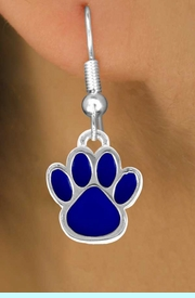 <bR>                EXCLUSIVELY OURS!!<Br>         AN ALLAN ROBIN DESIGN!!<BR>CLICK HERE TO SEE 120+ EXCITING<BR>   CHANGES THAT YOU CAN MAKE!<BR>              LEAD & NICKEL FREE!!<BR>     W688SE - LARGE BLUE PAW &<BR>   EARRINGS FROM $4.50 TO $8.35