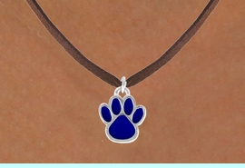<bR>                 EXCLUSIVELY OURS!!<Br>           AN ALLAN ROBIN DESIGN!!<BR>  CLICK HERE TO SEE 120+ EXCITING<BR>     CHANGES THAT YOU CAN MAKE!<BR>                LEAD & NICKEL FREE!!<BR>       W688SN - LARGE BLUE PAW &<BR>     NECKLACE FROM $4.50 TO $8.35