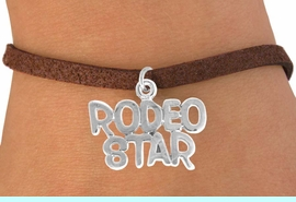 """<bR>               EXCLUSIVELY OURS!!<Br>         AN ALLAN ROBIN DESIGN!!<BR> CLICK HERE TO SEE 120+ EXCITING<BR>    CHANGES THAT YOU CAN MAKE!<BR>              LEAD & NICKEL FREE!!<BR> W692SB - """"RODEO STAR"""" CHARM<Br> & BRACELET FROM $4.50 TO $8.35"""