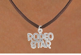 "<bR>                 EXCLUSIVELY OURS!!<Br>           AN ALLAN ROBIN DESIGN!!<BR>  CLICK HERE TO SEE 120+ EXCITING<BR>     CHANGES THAT YOU CAN MAKE!<BR>                LEAD & NICKEL FREE!!<BR>   W692SN - ""RODEO STAR"" CHARM<BR>   & NECKLACE FROM $4.50 TO $8.35"