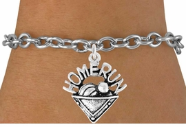 "<bR>               EXCLUSIVELY OURS!!<Br>         AN ALLAN ROBIN DESIGN!!<BR>CLICK HERE TO SEE 120+ EXCITING<BR>   CHANGES THAT YOU CAN MAKE!<BR>              LEAD & NICKEL FREE!!<BR>     W701SB - ""HOME RUN"" PLATE<Br>    BRACELET FROM $4.50 TO $8.35"