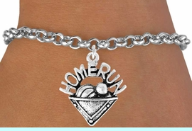 """<bR>               EXCLUSIVELY OURS!!<Br>         AN ALLAN ROBIN DESIGN!!<BR>CLICK HERE TO SEE 120+ EXCITING<BR>   CHANGES THAT YOU CAN MAKE!<BR>              LEAD & NICKEL FREE!!<BR>     W701SB - """"HOME RUN"""" PLATE<Br>    BRACELET FROM $4.50 TO $8.35"""