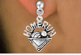 "<bR>                EXCLUSIVELY OURS!!<Br>          AN ALLAN ROBIN DESIGN!!<BR> CLICK HERE TO SEE 120+ EXCITING<BR>    CHANGES THAT YOU CAN MAKE!<BR>               LEAD & NICKEL FREE!!<BR>      W701SE - ""HOME RUN"" PLATE<BR> & EARRINGS FROM $4.50 TO $8.35"
