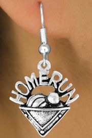"""<bR>                EXCLUSIVELY OURS!!<Br>          AN ALLAN ROBIN DESIGN!!<BR> CLICK HERE TO SEE 120+ EXCITING<BR>    CHANGES THAT YOU CAN MAKE!<BR>               LEAD & NICKEL FREE!!<BR>      W701SE - """"HOME RUN"""" PLATE<BR> & EARRINGS FROM $4.50 TO $8.35"""