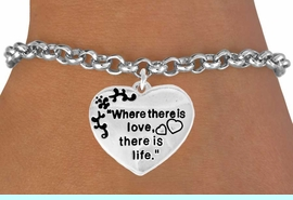 """<bR>               EXCLUSIVELY OURS!!<Br>         AN ALLAN ROBIN DESIGN!!<BR>CLICK HERE TO SEE 120+ EXCITING<BR>   CHANGES THAT YOU CAN MAKE!<BR>              LEAD & NICKEL FREE!!<BR>W704SB - """"WHERE THERE IS LOVE""""<Br>            HEART BRACELET FROM<bR>                      $4.50 TO $8.35"""