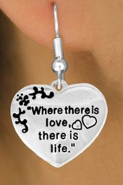 """<bR>                EXCLUSIVELY OURS!!<Br>          AN ALLAN ROBIN DESIGN!!<BR> CLICK HERE TO SEE 120+ EXCITING<BR>    CHANGES THAT YOU CAN MAKE!<BR>               LEAD & NICKEL FREE!!<BR> W704SE - """"WHERE THERE IS LOVE""""<BR>  HEART CHARM & EARRINGS FROM<Br>                      $4.50 TO $8.35"""