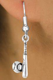 <bR>                 EXCLUSIVELY OURS!!<Br>           AN ALLAN ROBIN DESIGN!!<BR>  CLICK HERE TO SEE 120+ EXCITING<BR>    CHANGES THAT YOU CAN MAKE!<BR>               LEAD & NICKEL FREE!!<BR>    W705SE - BASEBALL/SOFTBALL<BR>BAT & BALL CHARM EARRINGS FROM<bR>                      $4.50 TO $8.35