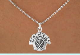 """<bR>                 EXCLUSIVELY OURS!!<Br>           AN ALLAN ROBIN DESIGN!!<BR>  CLICK HERE TO SEE 120+ EXCITING<BR>     CHANGES THAT YOU CAN MAKE!<BR>                LEAD & NICKEL FREE!!<BR>      W708SN - """"HOCKEY ROCKS"""" &<BR>     NECKLACE FROM $4.50 TO $8.35"""