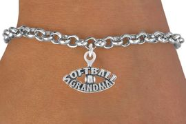 """<bR>               EXCLUSIVELY OURS!!<Br>         AN ALLAN ROBIN DESIGN!!<BR>CLICK HERE TO SEE 120+ EXCITING<BR>   CHANGES THAT YOU CAN MAKE!<BR>              LEAD & NICKEL FREE!!<BR> W709SB - """"SOFTBALL GRANDMA""""<Br>   BRACELET FROM $4.50 TO $8.35"""