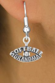 """<bR>                EXCLUSIVELY OURS!!<Br>          AN ALLAN ROBIN DESIGN!!<BR> CLICK HERE TO SEE 120+ EXCITING<BR>    CHANGES THAT YOU CAN MAKE!<BR>               LEAD & NICKEL FREE!!<BR>  W709SE - """"SOFTBALL GRANDMA""""<BR> & EARRINGS FROM $4.50 TO $8.35"""