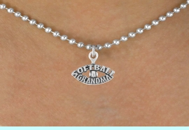 """<bR>                 EXCLUSIVELY OURS!!<Br>           AN ALLAN ROBIN DESIGN!!<BR>  CLICK HERE TO SEE 120+ EXCITING<BR>     CHANGES THAT YOU CAN MAKE!<BR>                LEAD & NICKEL FREE!!<BR>   W709SN - """"SOFTBALL GRANDMA""""<BR>   & NECKLACE FROM $4.50 TO $8.35"""