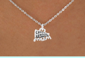 """<bR>                 EXCLUSIVELY OURS!!<Br>           AN ALLAN ROBIN DESIGN!!<BR>  CLICK HERE TO SEE 120+ EXCITING<BR>     CHANGES THAT YOU CAN MAKE!<BR>                LEAD & NICKEL FREE!!<BR>  W711SN - """"CHEERLEADER MOM"""" &<BR>     NECKLACE FROM $4.50 TO $8.35"""