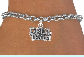 """<bR>               EXCLUSIVELY OURS!!<Br>          AN ALLAN ROBIN DESIGN!!<BR> CLICK HERE TO SEE 120+ EXCITING<BR>    CHANGES THAT YOU CAN MAKE!<BR>               LEAD & NICKEL FREE!!<BR>W714SB -  """"DRILL TEAM"""" CHARM &<Br>    BRACELET FROM $4.50 TO $8.35<Br>                               &#169;2010"""