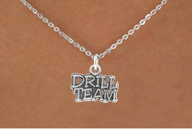 "<bR>               EXCLUSIVELY OURS!!<Br>         AN ALLAN ROBIN DESIGN!!<BR>CLICK HERE TO SEE 120+ EXCITING<BR>   CHANGES THAT YOU CAN MAKE!<BR>              LEAD & NICKEL FREE!!<BR>W714SN - ""DRILL TEAM"" CHARM &<BR>   NECKLACE FROM $4.50 TO $8.35<bR>                               &#169;2010"