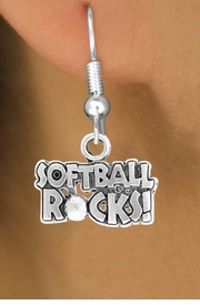 "<bR>                EXCLUSIVELY OURS!!<Br>          AN ALLAN ROBIN DESIGN!!<BR> CLICK HERE TO SEE 120+ EXCITING<BR>    CHANGES THAT YOU CAN MAKE!<BR>               LEAD & NICKEL FREE!!<BR>    W715SE - ""SOFTBALL ROCKS""� &<BR>    EARRINGS FROM $4.50 TO $8.35<bR>                                &#169;2010"