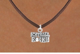 "<bR>               EXCLUSIVELY OURS!!<Br>         AN ALLAN ROBIN DESIGN!!<BR>CLICK HERE TO SEE 120+ EXCITING<BR>   CHANGES THAT YOU CAN MAKE!<BR>              LEAD & NICKEL FREE!!<BR>   W715SN - ""SOFTBALL ROCKS""� &<BR>   NECKLACE FROM $4.50 TO $8.35<bR>                               &#169;2010"