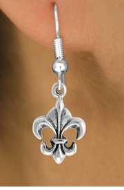 "<bR>                EXCLUSIVELY OURS!!<Br>          AN ALLAN ROBIN DESIGN!!<BR> CLICK HERE TO SEE 120+ EXCITING<BR>    CHANGES THAT YOU CAN MAKE!<BR>               LEAD & NICKEL FREE!!<BR>   W716SE - ""FLEUR DE LIS"" CHARM<BR>    EARRINGS FROM $4.50 TO $8.35<bR>                                &#169;2010"