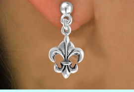 """<bR>                EXCLUSIVELY OURS!!<Br>          AN ALLAN ROBIN DESIGN!!<BR> CLICK HERE TO SEE 120+ EXCITING<BR>    CHANGES THAT YOU CAN MAKE!<BR>               LEAD & NICKEL FREE!!<BR>   W716SE - """"FLEUR DE LIS"""" CHARM<BR>    EARRINGS FROM $4.50 TO $8.35<bR>                                &#169;2010"""
