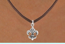 """<bR>               EXCLUSIVELY OURS!!<Br>         AN ALLAN ROBIN DESIGN!!<BR>CLICK HERE TO SEE 120+ EXCITING<BR>   CHANGES THAT YOU CAN MAKE!<BR>              LEAD & NICKEL FREE!!<BR> W716SN - """"FLEUR DE LIS"""" CHARM<BR>& NECKLACE FROM $4.50 TO $8.35<bR>                               &#169;2010"""