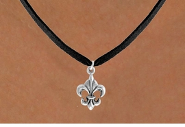"<bR>               EXCLUSIVELY OURS!!<Br>         AN ALLAN ROBIN DESIGN!!<BR>CLICK HERE TO SEE 120+ EXCITING<BR>   CHANGES THAT YOU CAN MAKE!<BR>              LEAD & NICKEL FREE!!<BR> W716SN - ""FLEUR DE LIS"" CHARM<BR>& NECKLACE FROM $4.50 TO $8.35<bR>                               &#169;2010"