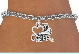"""<bR>                 EXCLUSIVELY OURS!!<Br>           AN ALLAN ROBIN DESIGN!!<BR>  CLICK HERE TO SEE 120+ EXCITING<BR>     CHANGES THAT YOU CAN MAKE!<BR>                LEAD & NICKEL FREE!!<BR>        W717SB - """"LOVE TO CHEER"""" &<Br>      BRACELET FROM $4.50 TO $8.35"""