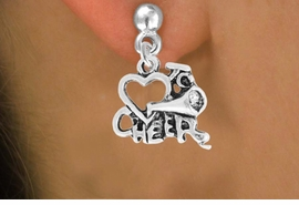 "<bR>                 EXCLUSIVELY OURS!!<Br>           AN ALLAN ROBIN DESIGN!!<BR>  CLICK HERE TO SEE 120+ EXCITING<BR>     CHANGES THAT YOU CAN MAKE!<BR>                LEAD & NICKEL FREE!!<BR>        W717SE - ""LOVE TO CHEER"" &<BR>    EARRINGS FROM $4.50 TO $8.35"