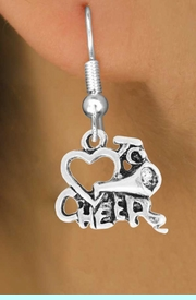 """<bR>                 EXCLUSIVELY OURS!!<Br>           AN ALLAN ROBIN DESIGN!!<BR>  CLICK HERE TO SEE 120+ EXCITING<BR>     CHANGES THAT YOU CAN MAKE!<BR>                LEAD & NICKEL FREE!!<BR>        W717SE - """"LOVE TO CHEER"""" &<BR>    EARRINGS FROM $4.50 TO $8.35"""