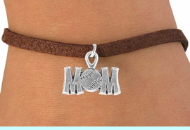 """<bR>                 EXCLUSIVELY OURS!!<Br>           AN ALLAN ROBIN DESIGN!!<BR>  CLICK HERE TO SEE 120+ EXCITING<BR>     CHANGES THAT YOU CAN MAKE!<BR>                LEAD & NICKEL FREE!!<BR>      W732SB - """"BASEBALL MOM"""" &<Br>      BRACELET FROM $4.50 TO $8.35"""