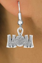 """<bR>                 EXCLUSIVELY OURS!!<Br>           AN ALLAN ROBIN DESIGN!!<BR>  CLICK HERE TO SEE 120+ EXCITING<BR>     CHANGES THAT YOU CAN MAKE!<BR>                LEAD & NICKEL FREE!!<BR>      W732SE - """"BASEBALL MOM"""" &<BR>     EARRINGS FROM $4.50 TO $8.35"""