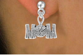 "<bR>                 EXCLUSIVELY OURS!!<Br>           AN ALLAN ROBIN DESIGN!!<BR>  CLICK HERE TO SEE 120+ EXCITING<BR>     CHANGES THAT YOU CAN MAKE!<BR>                LEAD & NICKEL FREE!!<BR>   W733SE - ""BASKETBALL MOM"" &<BR>     EARRINGS FROM $4.50 TO $8.35"