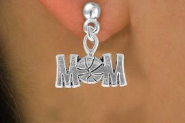 """<bR>                 EXCLUSIVELY OURS!!<Br>           AN ALLAN ROBIN DESIGN!!<BR>  CLICK HERE TO SEE 120+ EXCITING<BR>     CHANGES THAT YOU CAN MAKE!<BR>                LEAD & NICKEL FREE!!<BR>   W733SE - """"BASKETBALL MOM"""" &<BR>     EARRINGS FROM $4.50 TO $8.35"""