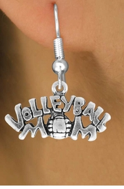 "<bR>                 EXCLUSIVELY OURS!!<Br>           AN ALLAN ROBIN DESIGN!!<BR>  CLICK HERE TO SEE 120+ EXCITING<BR>     CHANGES THAT YOU CAN MAKE!<BR>                LEAD & NICKEL FREE!!<BR>    W735SE - ""VOLLEYBALL MOM"" &<BR>     EARRINGS FROM $4.50 TO $8.35"