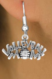 """<bR>                 EXCLUSIVELY OURS!!<Br>           AN ALLAN ROBIN DESIGN!!<BR>  CLICK HERE TO SEE 120+ EXCITING<BR>     CHANGES THAT YOU CAN MAKE!<BR>                LEAD & NICKEL FREE!!<BR>    W735SE - """"VOLLEYBALL MOM"""" &<BR>     EARRINGS FROM $4.50 TO $8.35"""