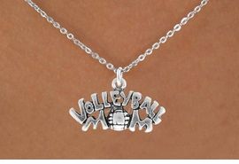 "<bR>                EXCLUSIVELY OURS!!<Br>          AN ALLAN ROBIN DESIGN!!<BR>  CLICK HERE TO SEE 120+ EXCITING<BR>     CHANGES THAT YOU CAN MAKE!<BR>                LEAD & NICKEL FREE!!<BR>    W735SN - ""VOLLEYBALL MOM"" &<BR>     NECKLACE FROM $4.50 TO $8.35"