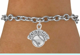 """<bR>                 EXCLUSIVELY OURS!!<Br>           AN ALLAN ROBIN DESIGN!!<BR>  CLICK HERE TO SEE 120+ EXCITING<BR>     CHANGES THAT YOU CAN MAKE!<BR>                LEAD & NICKEL FREE!!<BR>      W740SB - """"SOFTBALL"""" & BALL<Br>     BRACELET FROM $4.50 TO $8.35"""